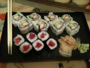 Sushi vom Lucky Chinese
