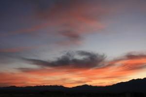 Sonnenaufgang um 7 Uhr morgens