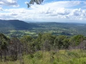 Ausblick über die weite Landschaft