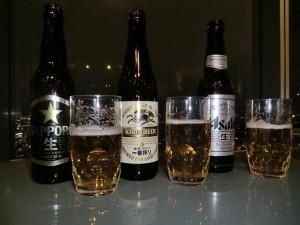 """Japanisches Bier mit """"Aussicht"""""""