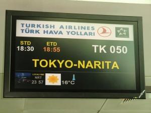 mit Turkish Airlines nach Tokyo