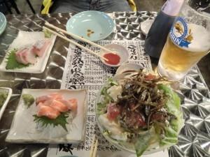 Sashimi frisch auf den Tisch (Sushi ohne Reis!)